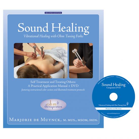 manuale sound healing per utilizzo diapason con dvd fronte